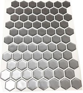 Design your own 3D Matte Silver Gel Tank Pad, 70 Hexagon set, Dimensions