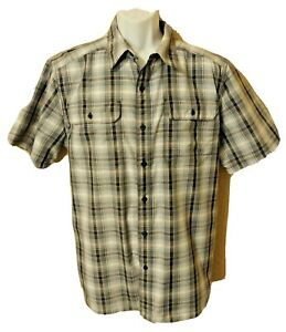 THE NORTH FACE Gray Plaid Climate Cool Men's Short Sleeve Shirt Size L