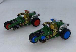 2 Teenage Mutant Ninja Turtles Slot Car Cycles. Untested