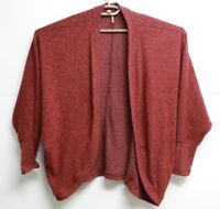 Womens Color Threads Maroon Cardigan Sweater Size Large