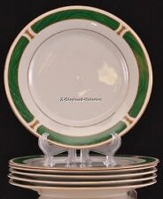 6 DISCONTINUED 1993-2000 SANGO MALACHITE MAJESTY #8420 SALAD PLATES GREEN GOLD