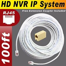 100ft AMCREST NVR POE IP2M-842E, NV1104, NV4108 HD NVR IP 100% Copper Cable