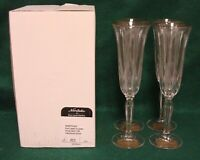 Noritake VENDOME (GOLD) Champagne Flutes SET OF FOUR More Available MINT IN BOX