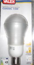 LAMPADA E27 LAMPADINA 15W CALDA GLOBO CLASSIC BASSO CONSUMO RISPARMIO ENERGETICO