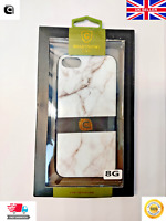 Apple iPhone 8 Marble Back Case Cover - Black | White | Pink CPR® Boxed