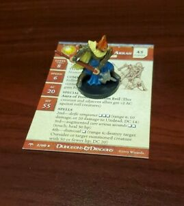 Cleric of Dol Arrah 2/60 Dungeons & Dragons miniature Angelfire with card