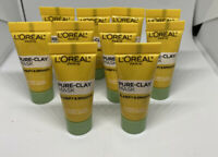 Loreal PURE CLAY MASK Clarify & Smooth 3 Pure Clays + YUZU LEMON .25 Oz 10 Pack