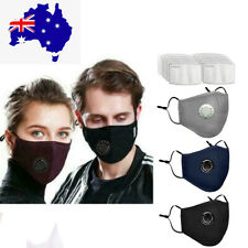 Face Mask Washable Reusable PM 2.5 Anti Air Pollution With Respirator Filters