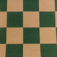 Printed Tissue Paper - Checkerboard Hunter Green on Kraft Pattern - 240 Sheets