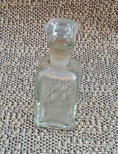 Ancienne petite bouteille et bouchon parfum parfumerie vintage french antique