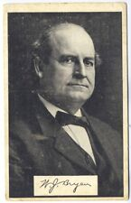 William J. Bryan Presidential Candidate Original Postcard Advertising Sales
