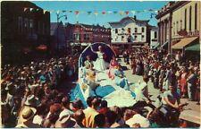 c. 1950s FORRESTON, IL, SAUERKRAUT DAY FESTIVAL PARADE FLOAT VIEW POSTCARD