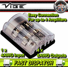 Vibe FD4 voiture 4 Voies Amplificateur Amp Power AGU Fusible Fusible Distribution bloc Support