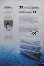 PUBLICITÉ 1980 ROC PRODUITS DE BEAUTÉ HYPO ALLERGENIQUES - ADVERTISING