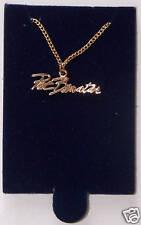 2 PAT BENATAR Gold Color Metal Necklaces Pendants Near Mint