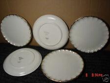Vintage,China,W.S. George,Bolero,5,Salad,Plates,22 carat Gold Brushed edges