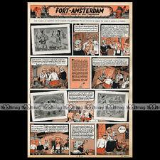 'FORT AMSTERDAM' Planche BD Willy VANDERSTEEN (No Bob et Bobette) - 1953 #434
