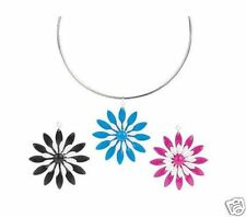 Flower Intechangeable Wire Pendant Necklace, Set of 3