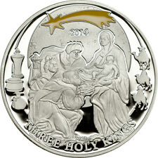 Three Holy Kings  - Biblical Stories Silver Coin 2$ Palau 2014 with COA+ Box