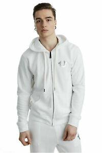 New True Religion Men's Metallic Double Puff Buddha Hoodie Sweatshirt