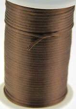 brown 2MM Rattail Satin Cord Macrame Beading Nylon kumihimo String 10ya