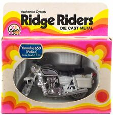 Vintage Ridge Riders Police Motorcycle Yamaha 650 Zee Toys 1974 Hong Kong NIB