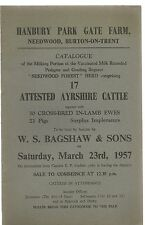 Hanbury Park Gate Farm , Needwood , Burton On Trent : Sale Catalogue Of Ayrshire