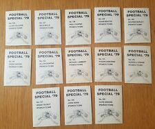 AVA Americana Football Special '79 - Set of 13 Ipswich Town Stickers - 1979