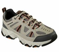 Taupe Skechers Black Extra Wide Fit Shoes Men's Memory Foam Sporty Comfort 51885