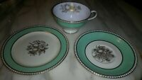 "Antique Tiffany & Co Fine China Spode England Cup, Saucer, & 6"" Plate  3 pieces"