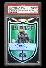 2014 Leaf Valiant Honor Guard Die-Cut Odell Beckham Jr. RC AUTO PSA 10