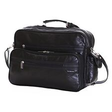 Genuine Real Patch Leather Travel Gym Sports Cabin Flight Luggage Holdall Bag