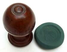 More details for 18th century treen wax seal  armorial of paul orchard mp & sheriff of devon 1765