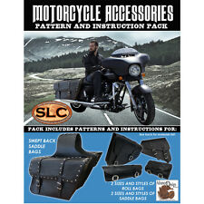 SLC Motorcycle Accessory Pattern Pack: Swept Back Saddle Bags, and Rolled Bags