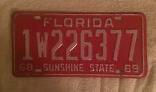 Good Solid 1969 Florida  License Plate  Free Shipping See My Store