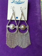 Lucky Brand  NWT S/Tone Freshwater Pearl Teardrop Chandelier Earrings