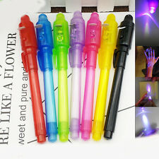 1Pc UV Light Pen Invisible Ink Security Marker & Built in Ultra Violet LED Light