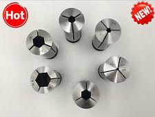 5C Hex Collet 6pcs Set 1/8-3/4 by 8ths(1/8,1/4,3/8,1/2,5/8,3/4)