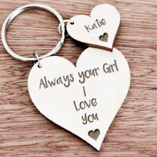 Personalised Gifts For Him Husband Boyfriend Men Anniversary Keyring Gift K40