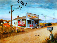 """""""BY THE COUNTRY STORE"""" Pencil S/N Print by Les Kouba + The Story - Free Shipping"""