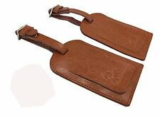 AVIMA Travel Leather Luggage Bag Tag Suitcase Baggage Office Address ID  - Brown