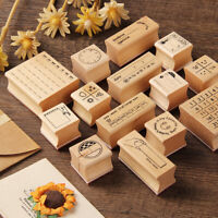 Wood Rubber Stamp Calendar Diary Music Style Daily Diary Scrapbooking DIY Craft