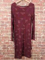 Gudrun Sjoden S Dress Lyocel Blend Burgundy Long Sleeve