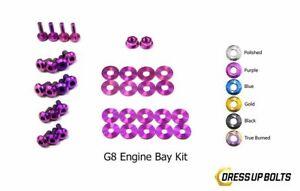Dress Up Bolts for Pontiac G8 V6 GT GXP 2008-2009 Titanium Engine Bay Kit Purple