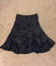 GUC A-line Skirt 2 4 Black Sequin Small