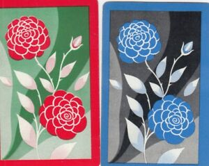 GENUINE SWAP PLAYING CARD - 2 SINGLE FLOWERS - #27