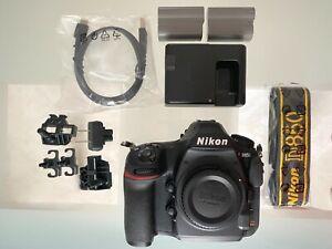 NIKON D850 45.7 MP Full Frame Digital SLR Camera Body w accessories 254k clicks