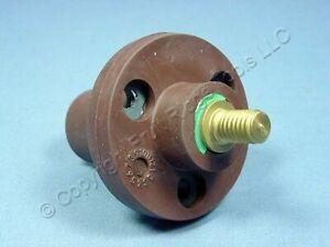 Leviton Brown ECT 15 Series Threaded Stud Cam Plug Receptacle 125A 600V 15R21-H