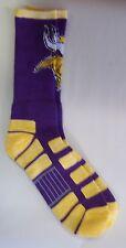 Minnesota Vikings Men's Crew Socks Large Size 10 to 13 Patches