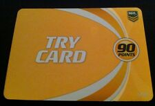 NRL Power Play Game Cards Gold Try Card 1 in every 6 Packs Rare Nrl Cards New